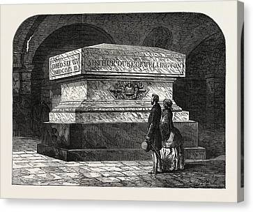 Tomb Of The Late Duke Of Wellington In The Crypt Of St Canvas Print by English School