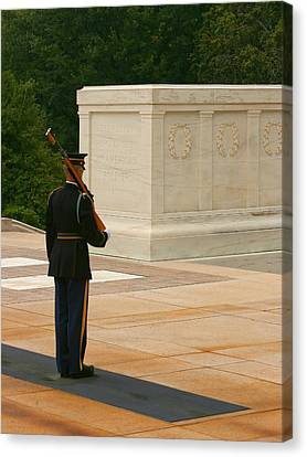 Arlington National Cemetery Canvas Print - Tomb Of The Unknown Soldier by Kim Hojnacki