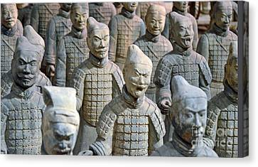 Canvas Print featuring the photograph Tomb Warriors by Robert Meanor