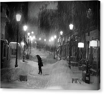 Tombe La Neige... Canvas Print