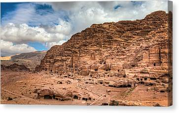Tombs Of Petra Canvas Print by Alexey Stiop
