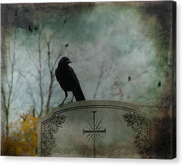Tombstone Crow Canvas Print