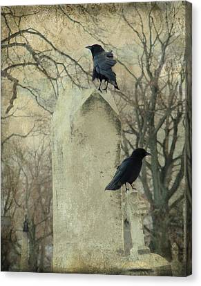 Tombstone Hoppers Canvas Print by Gothicrow Images