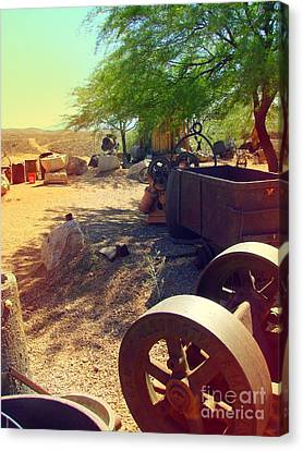 Tombstone Miner's Yard Canvas Print
