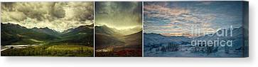 Tombstone Range Seasons Canvas Print