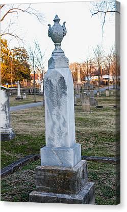 Tombstone Canvas Print by Robert Hebert