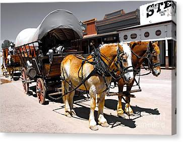 Tombstone Wagon Canvas Print