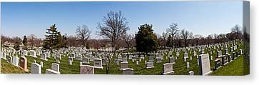 Arlington National Cemetery Canvas Print - Tombstones In A Cemetery, Arlington by Panoramic Images