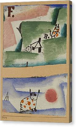 Tomcats Turf Canvas Print by Paul Klee