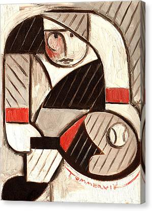 Tommervik Abstract Tennis Art Player Canvas Print by Tommervik