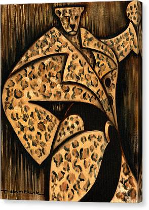 Cheetah Fur Coat Art Print Canvas Print