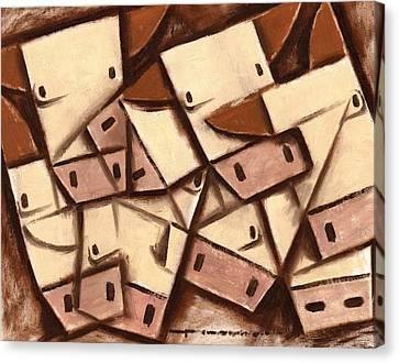 Tommervik Cubism Cows Cow Art Print Canvas Print by Tommervik