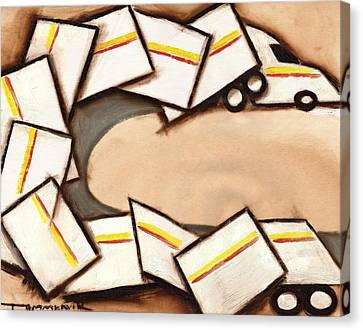Tommervik Cubism Semi Truck Art Print Canvas Print by Tommervik