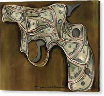 Tommervik Cash Gun Art Print Canvas Print by Tommervik