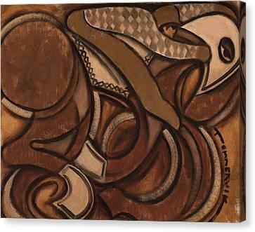 Kentucky Derby Canvas Print - Tommervik Abstract Racehorse Art Print by Tommervik