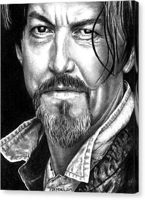 Tommy Flanagan As Chibs Canvas Print by Rick Fortson