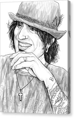 Tommy Lee Art Drawing Sketch Portrait Canvas Print by Kim Wang