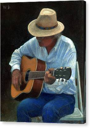 Canvas Print featuring the painting Tommy by Wayne Daniels
