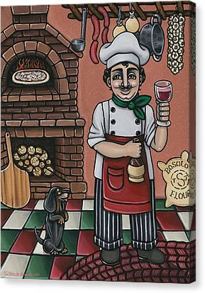 Tommys Italian Kitchen Canvas Print by Victoria De Almeida