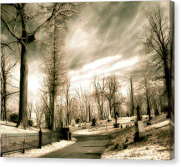 Toned Infrared Graveyard  Canvas Print