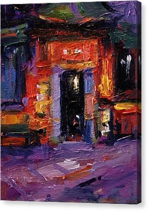 Tong Ah Restaurant Amsterdam Canvas Print by R W Goetting