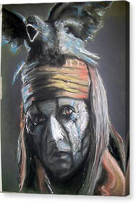 Canvas Print featuring the pastel Tonto by Peter Suhocke