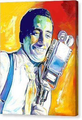 Basie Canvas Print - Tony Bennett by Vel Verrept