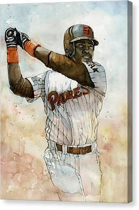 Tony Gwynn Canvas Print by Michael  Pattison