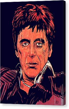 Tony Montana Canvas Print by Giuseppe Cristiano