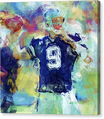 Tony Romo Abstract 1 Canvas Print by David G Paul