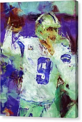 Tony Romo Abstract 2 Canvas Print by David G Paul
