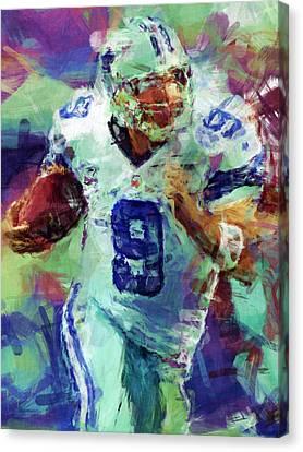 Tony Romo Abstract 4 Canvas Print by David G Paul
