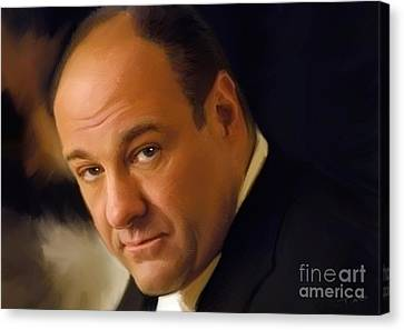 Shower Canvas Print - Tony Soprano by Paul Tagliamonte