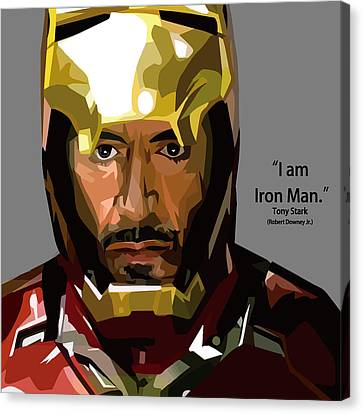 Tony Stark Iron Man Canvas Print