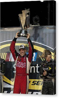 Tony Stewart Cup Champ 3 Canvas Print