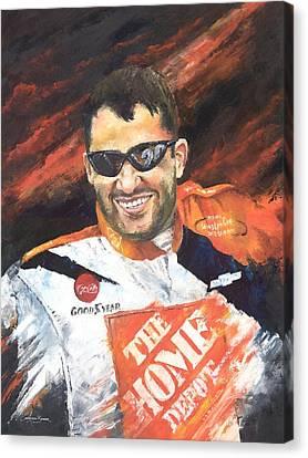 Tony Stewart - Nascar Canvas Print by Christiaan Bekker