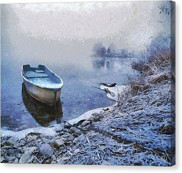 Too Cold For A Boat Trip Canvas Print by Gun Legler