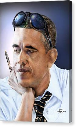 Barack Canvas Print - Too Cool For Congress-the Veto by Reggie Duffie