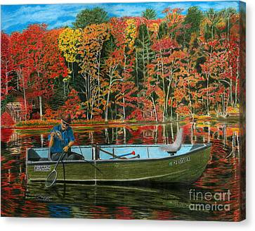 Willow Lake Canvas Print - Too Small To Keep by Peter Piatt