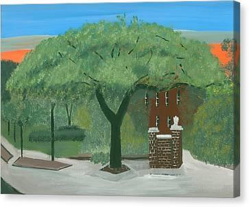 Toomers Oaks Canvas Print - Toomers Corner by Kecia Ellis