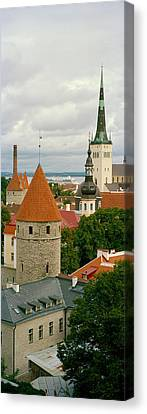Toompea View, Old Town, Tallinn, Estonia Canvas Print by Panoramic Images