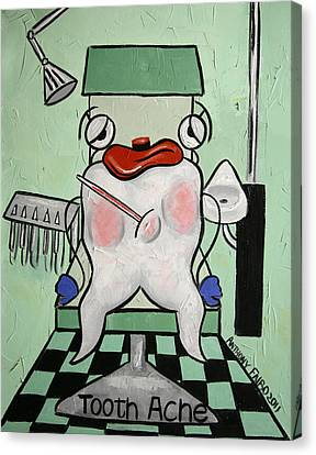 Tooth Ache Canvas Print by Anthony Falbo
