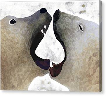 Toothy Bears Canvas Print