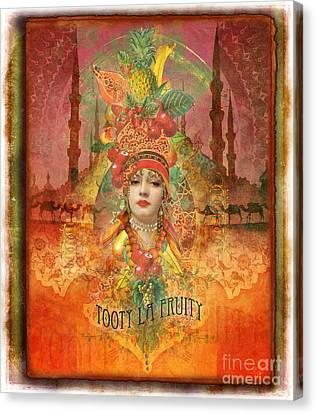 Tooty La Fruity Canvas Print by Aimee Stewart