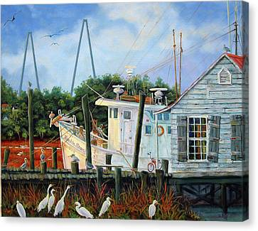 Top Dog Shrimper - At Rest Canvas Print