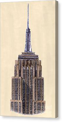 Top Of Empire State Building New York City Canvas Print by Gerald Blaikie