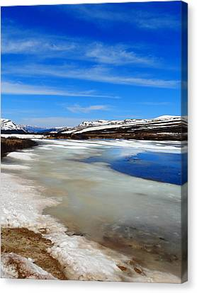 Top Of Independence Pass Canvas Print by Dan Sproul