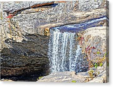 Top Of Noccalula Falls Canvas Print by Marilyn Holkham