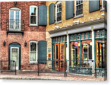 Top Of Railroad Street - Great Barrington Canvas Print
