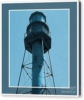 Canvas Print featuring the photograph Top Of Sanibel Island Lighthouse by Janette Boyd